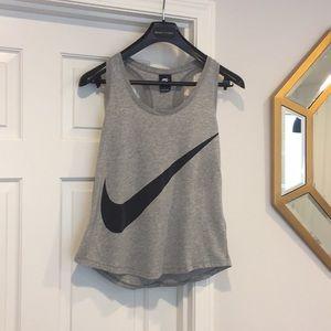 Nike swoosh logo tank